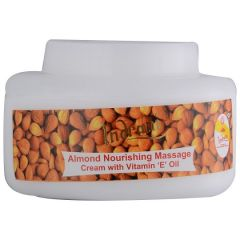 Indrani Almond Nourishing Massage cream with Vitamin-E Oil-200GMS