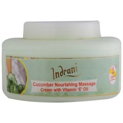 Indrani Cucumber Nourishing Massage cream with Vitamin-E Oil-200GM