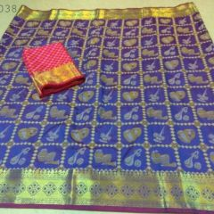Cotton Jackard Saree (Code -HIFO)