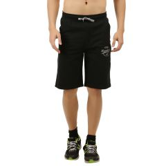 Handgrip Black Solid Men's Shorts (Code - SH001-BLACK)