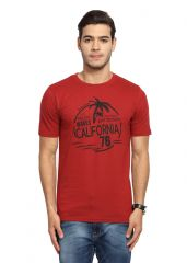Handgrip Rosewoodred Graphics mens Tshirt (Code - GRNO10-ROSEWOODRED)