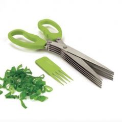 Stainless Steel 5 Blade Multi Cut Scissors Sharp Fresh Herb Kitchen Tools