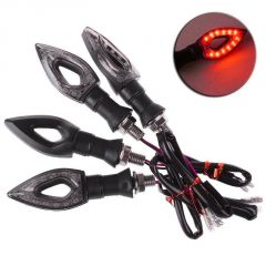 STAR SHINE Red PAN AMBER MotorBike Indicator For Bajaj KB 4-S-Set of 4