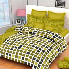 100 Percent Cotton Double Bedsheet & 2 Pillow Covers - (code - RG-NCB-456)