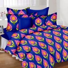 100 Percent Cotton Double Bedsheet & 2 Pillow Covers - (code - RG-NCB-234)