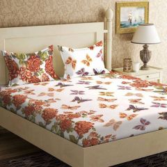 100 Percent Cotton Double Bedsheet & 2 Pillow Covers - (code - RG-NCB-412)
