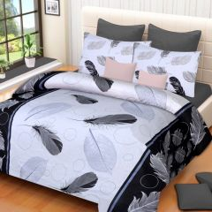 100 Percent Cotton Printed Cotton Double Bed-sheets With 2 Pillow Covers (code - Rg-ncb-327) - Bed Sheets
