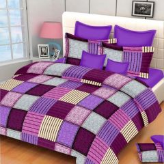 100 Percent Cotton Double Bedsheet & 2 Pillow Covers - (code - Rg-ncb-390)