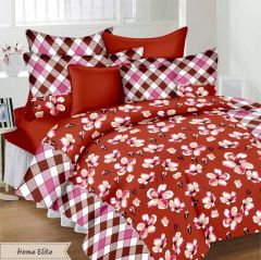 100 Percent Cotton Double Bedsheet & 2 Pillow Covers - (code - Rg-ncb-453) - Bed Sheets