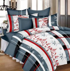 100 Percent Cotton Double Bedsheet & 2 Pillow Covers - (code - Rg-ncb-453) - Panipat