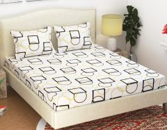 100 Percent Cotton Double Bedsheet & 2 Pillow Covers - (code - Rg-ncb-455) - Bed Sheets
