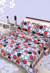 100 Percent Cotton Double Bedsheet & 2 Pillow Covers - (code - Rg-ncb-455) - Panipat