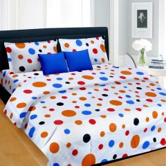 Rg Home Designer Poly Cotton Double Bedsheet - Rg-pc-02