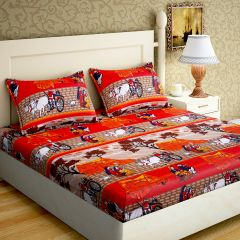 Rg Home Designer Poly Cotton Double Bedsheet - Rg-pc-10