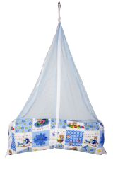 Jaze Baby Jhula Cradle with Baby Essential Freebie Set - Blue Bear