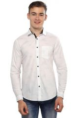 Mr.Stag Men's White Colour Dotted Casual Full Sleeves Shirt (Code - SHIRTTNF001-PA)