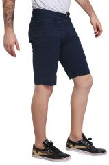 Mr. Stag Men's Dark Blue Printed Cotton Shorts (Code - SHORTS NG009)