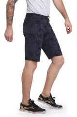 Mr. Stag Men's Purple Printed Cotton Shorts (Code - SHORTS NG010)