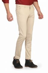 Mr. Stag Men's Cotton White Casual Trouser (Code - TROUSER NG003)