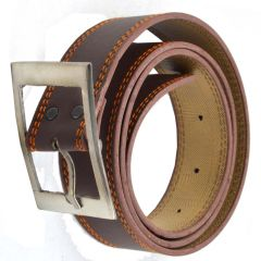 Faynci Super Stylish Brown Leather Belt for Boys and Mens Casual & Formal