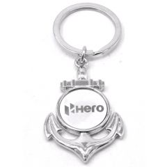 Faynci New Hero Metal Logo Stainless Steel Key Ring Key Chain for Hero Lover