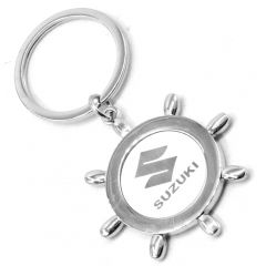 Faynci Sun Design with Suzuki Metal Logo High Quality Stainless Steel Key Ring Key Chain for Suzuki Lover