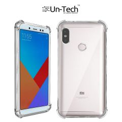 Un-Tech Redmi_Note_5  Transparent Mobile Back Cover Case with TPU Corner Protection Pro Phone cases