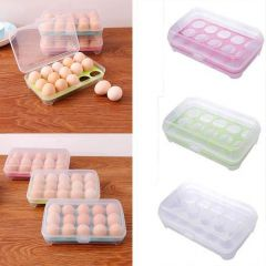 Ergode Egg Container Single Layer 15 Eggs Tray Refrigerator-Food Airtight Storage Folding Portable Holder