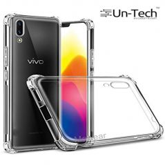 Un-Tech Vivo X21 Transparent Mobile Phone Back Cover Case with TPU Corner Protection( Clear) Phone Cover