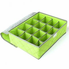 Gadgetbucket 24 Compartment Cell Foldable Storage Box Organizer -Green