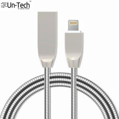 UnTech Metal Spring Shade Lightning Cable (3.3ft/1M), 8 Pin To USB Fast Charging Cable