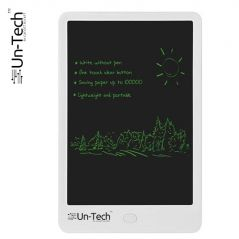"UnTech Ruffpad Portable 10"" Re-Writable LCD E-Pad Paperless E-Writer with Stylus (White)"