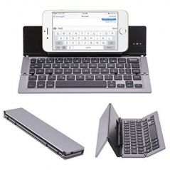 UnTech Foldable Wireless Bluetooth Keyboard with Kickstand F18 (Grey)