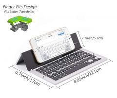 UnTech Foldable Wireless Bluetooth Keyboard with Kickstand F18  Silver