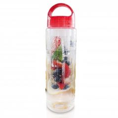 Gadgetbucket Plastic Water Bottle Natural Fruit Infuser for Yoga Gym Hiking Sports or Office 670 ml, Color as per Availability