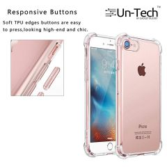 Un-Tech Transparent Mobile Back Cover Case with TPU Corner Protection for iPhone 8 (Clear)