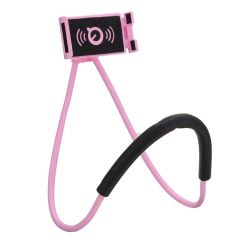 Gadgetbucket Lazy Bracket Phone Holder Rotating Smart Mobile Phone Mount Stand (Pink)