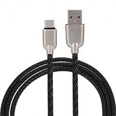 UnTech Mesh Plastic Rubber Covered USB Cable Black for Android