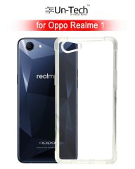 Un-Tech Oppo Realme 1 Transparent Mobile Back Cover Case with TPU Corner Protection Phone Cases