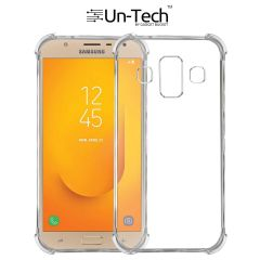 Un-Tech Samsung Galaxy J7 Duo Exclusive Soft Silicone Crystal Clear Case Soft Back Case Cover Transparent