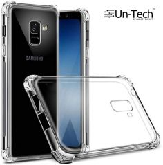 Un-Tech Samsung J6 Transparent Mobile Phone Back Cover Case with TPU Corner Protection Phone Cover