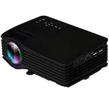 UnTech UC36 Mini LED Portable Projector Full Hd Color 130-inch Screen Support HDMI AV USB (Black)