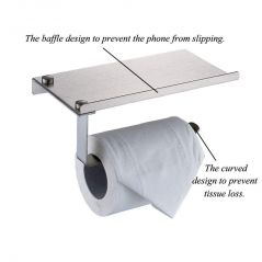 Ergode Wall Mount Toilet Paper Holder with Mobile Phone Storage Shelf Pack of 2