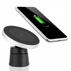UnTech Fast Charging Wireless Car Charger Magnetic Charger Mount All Q I-Enabled Devices (10 W)
