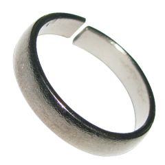 Yuvi Shoppe 1 Pc Asli Kaale Ghode Ki Naal Ki Ring / Black Horse Shoe Iron Ring