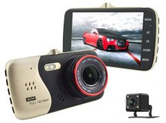 Full HD Front and Rear VGA Simultaneous Car Video Recorder DVR Dash Camera