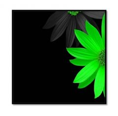 RE-DESIGN MATT black framed painting- 12x12 inch