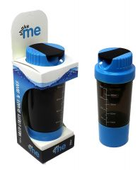 Shake It Gym Shaker For Protein / Water Purpose 500 ml Shaker, Bottle, Sipper, Bottle Cage ( Multicolor)