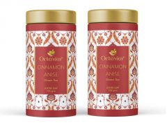 Octavius Cinnamon Anise Whole Leaf Green Tea in Tin Can-100 Gms(Pack of 2)