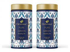 Octavius Darjeeling Loose Leaf Pure Green Tea Tin Can -100 Gms(Pack of 2)
